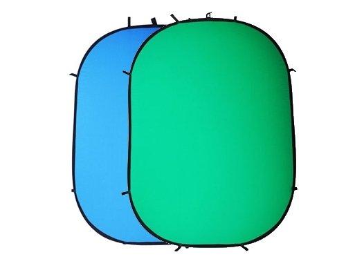 Fondo plegable Chromakey 2 en 1 verde & azul 150x200cm