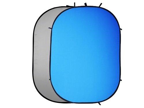 Fondo plegable 2 en 1 gris & azul 150x200cm