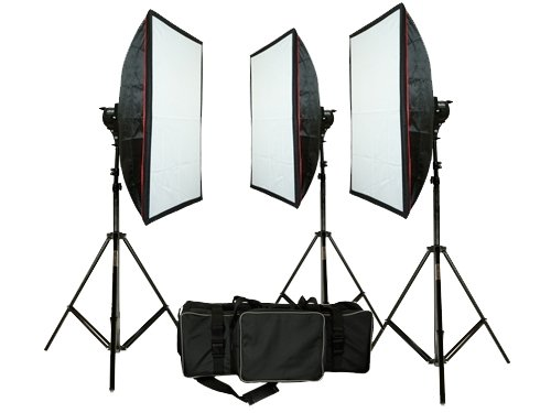 Kit 3 Softbox 1000W Mettle 3200K