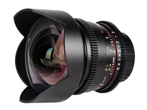 Objetivo Samyang V-DSLR EF 14mm T/3.1