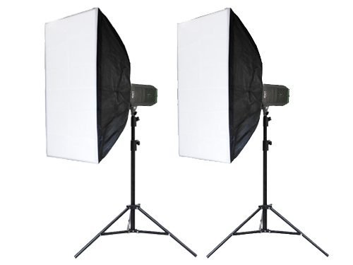 Kit 2 focos LED 1000W 5400K con Softbox