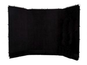 Fondo panorámico negro 4x2,35m