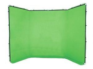 Fondo panorámico Chromakey verde 4x2,35m