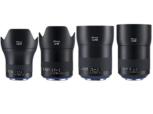 Kit 4 objetivos Zeiss Milvus 21mm, 35mm, 50mm y 85mm