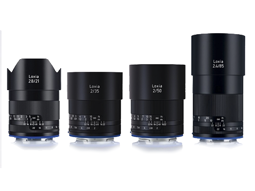 Kit 4 objetivos Zeiss Loxia E Sony- 21mm, 35mm, 50mm y 85mm