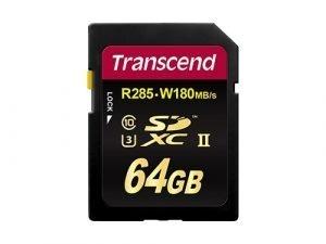 Tarjeta de memoria SDXC UHS-II Transcend 64GB 180MB/s U3