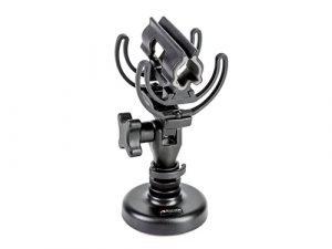 Suspensión para micrófonos de cañon Rycote InVision con base de sobremesa