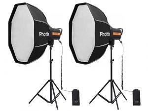 Kit 2 flash Phottix Indra 360 TTL