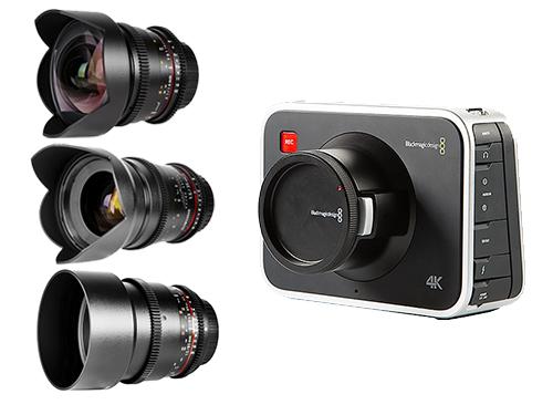 Blackmagic Cinema 4K EF + Objetivos Samyang V-DSLR 14/35/85mm