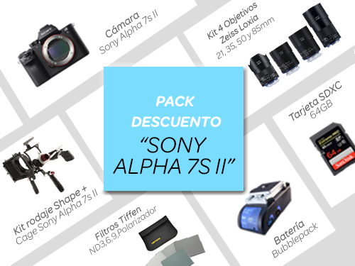 """Pack descuento """"SONY ALPHA 7S II"""""""