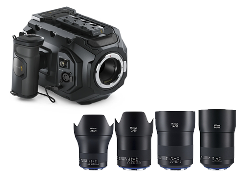 Blackmagic URSA Mini 4K + Objetivos Zeiss Milvus 21/35/50/85mm