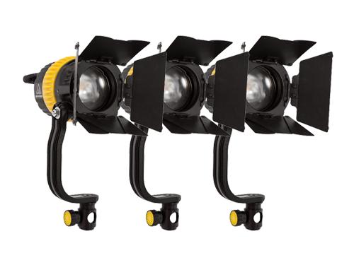Kit 3 focos LED Dedolight DLED4BI bicolor 40W 2700K-6000K