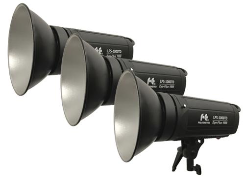 Kit 3 focos LED bicolor FalconEyes LPS-1000TD 100W 3000K - 8000K