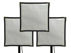 Kit 3 paneles LED Cineroid flexibles FL400S bicolor 2700K-6500K