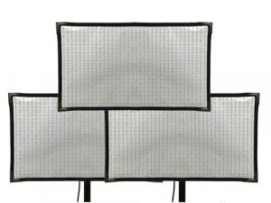 Kit 3 paneles LED Cineroid flexibles FL800S bicolor 2700K-6500K