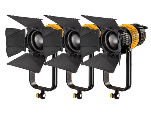 Kit 3 focos LED Dedolight DLED9BI bicolor 90W 2700K-6000K