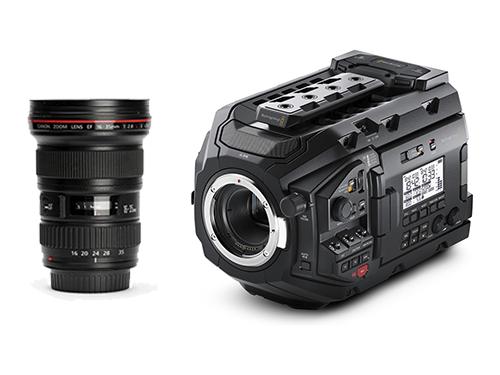 Blackmagic URSA Mini Pro 4.6K + Objetivo Canon EF 16-35mm f/2.8L II USM