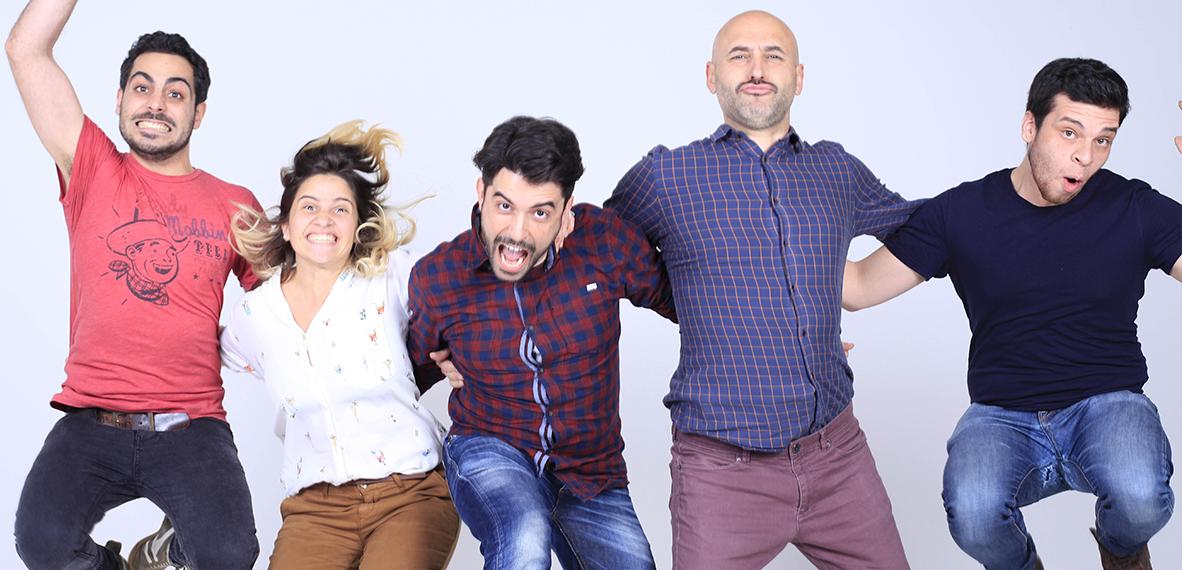 Nicolas Balantzian, Paula Costantino, Fran Castillo, Alberto Moraleda, Julio Arenas (de izq. a der.) y Jakob Karte, que no parece en la fotografía, forman el equipo de Golden Studio.