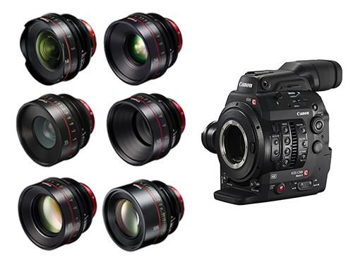 Canon EOS C300 Mark II + Objetivos Canon CN-E 14/24/35/50/85/135mm