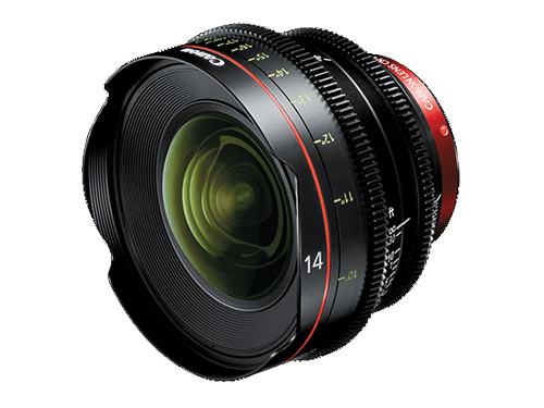 Objetivo Canon CN-E 14mm T3.1 L F