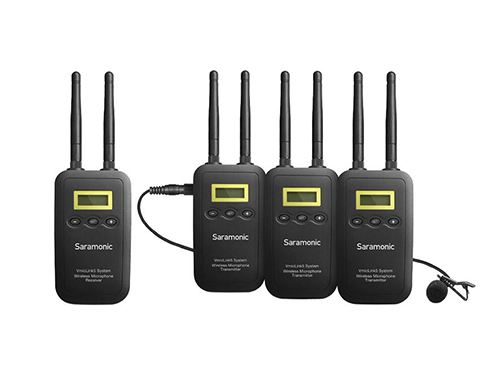 Sistema de 3 micrófonos inalámbricos de corbata Saramonic VmicLink5