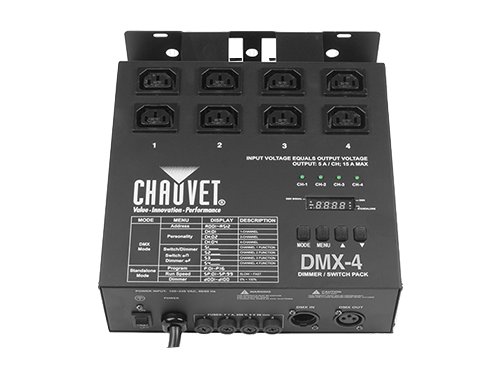 Dimmer 4 canales Chauvet DMX-4
