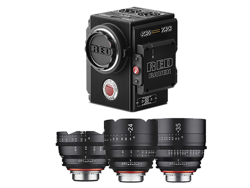 RED RAVEN 4.5K + Objetivos Samyang XEEN 14-24-35mm