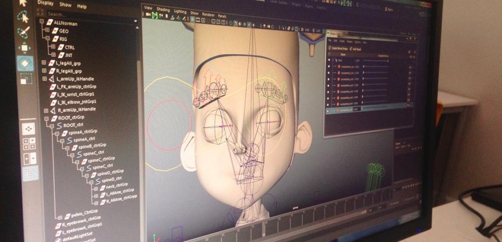 Clase de animación 3D en Seeway en el que se emplea el software Maya