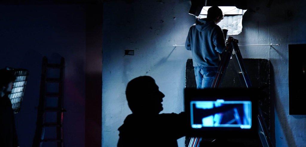 Alumnos en el set de rodaje