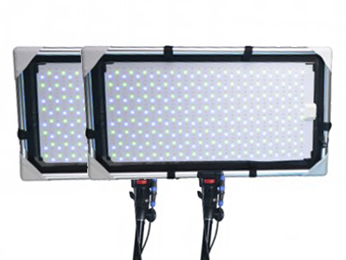 Kit 2 paneles LED flexibles RGBWA Ledgo VM232 1K1