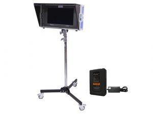 Kit Monitor Blackmagic SmartView 17 4K Batería Dynacore V-Lock DS130S Trípode Avenger A5017