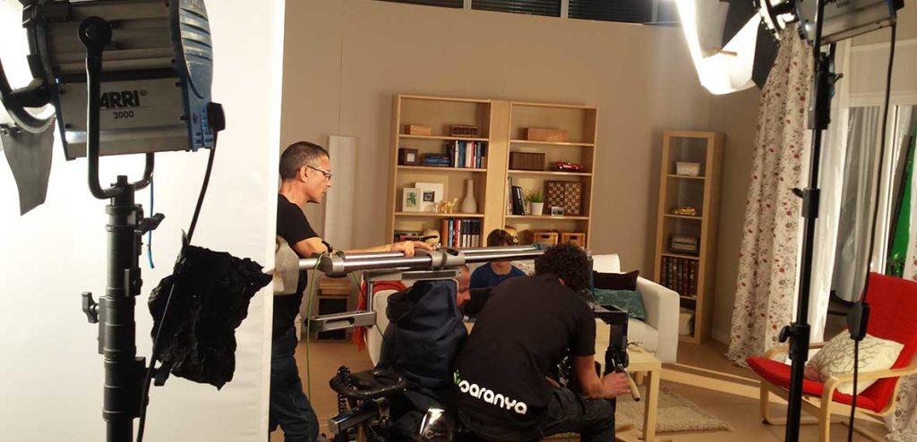 Rodaje en el set de Musaranya Productions