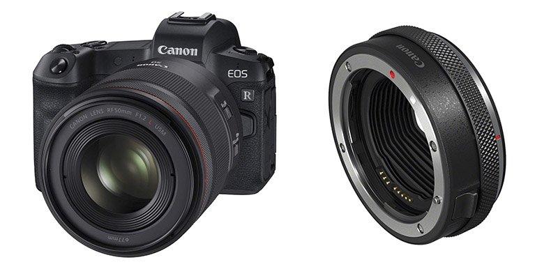 Canon EOS R y adaptador montura EF- EOS R