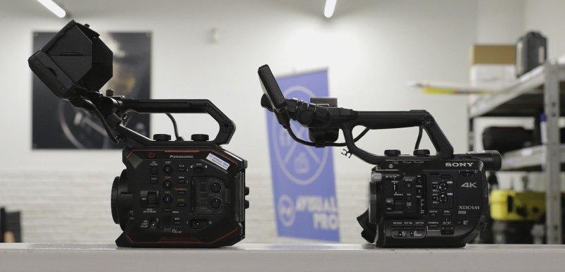 Cuerpo cámara Sony FS5 vs Panasonic EVA1