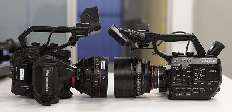 Face to face Sony FS5 vs Panasonic EVA1