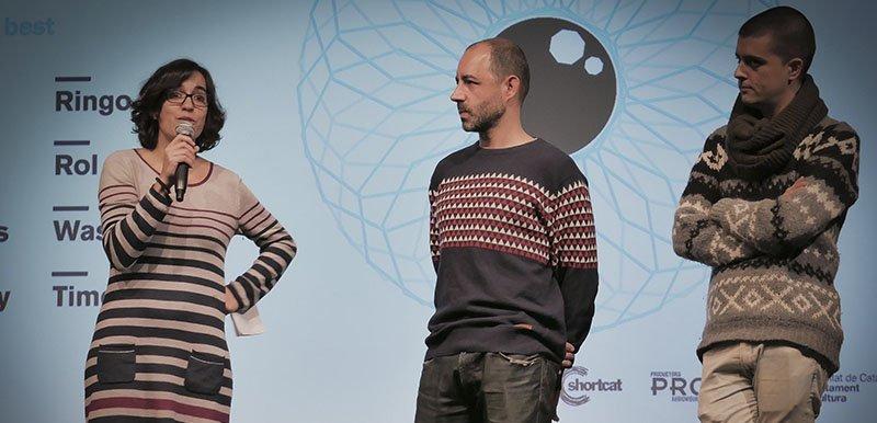 Mar Medir presentando el 10º aniversario ShortCat El Dia Mes Curt