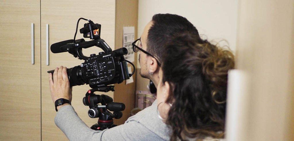 Cortometraje rodado equipos audiovisuales