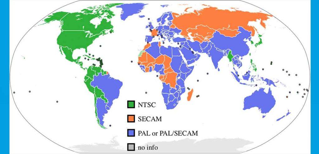 NTSC, SECAM o PAL
