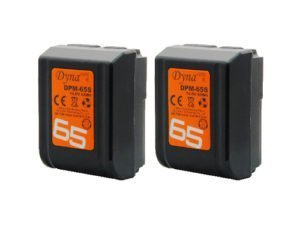 Pack 2 baterías Dynacore mini V-Lock DPM-65S