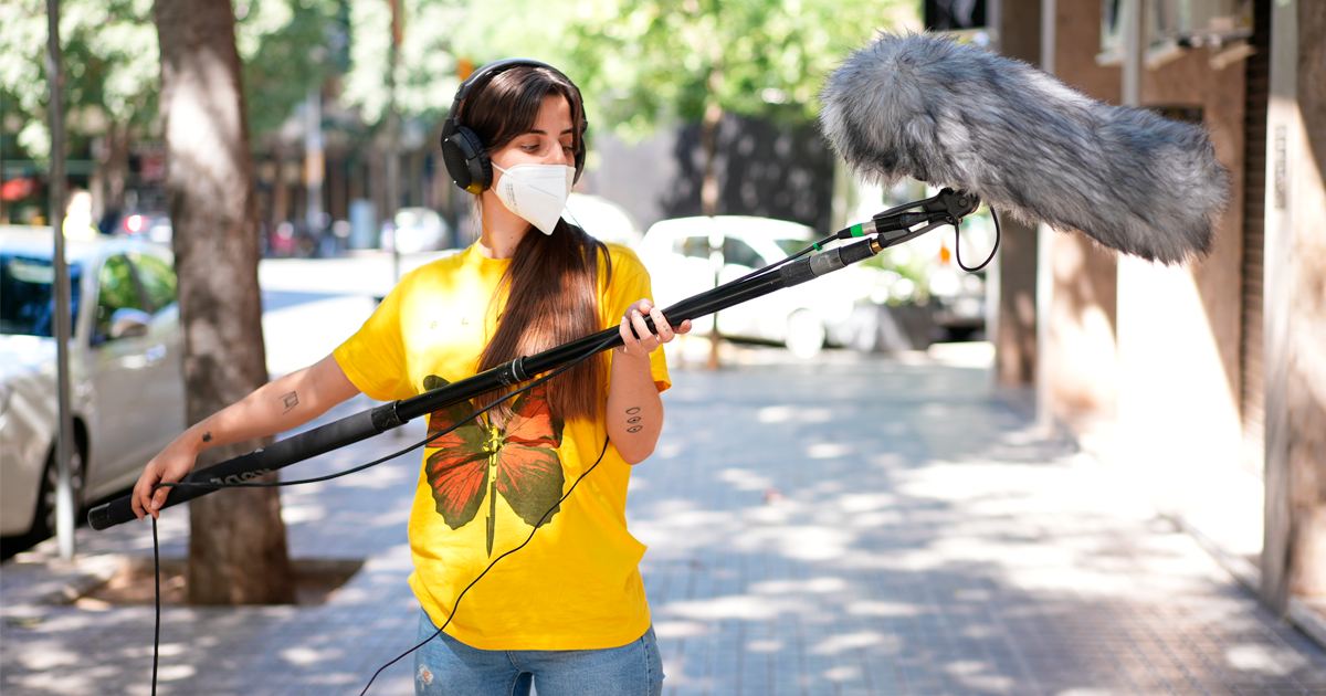 grabar sonido en exteriores
